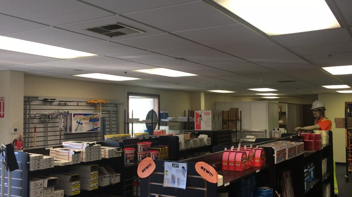 Lighting retrofit at local business.